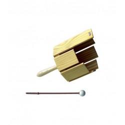 Octógono de percusión con mango y bola de plástico