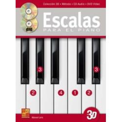 Escalas para el piano + CD + DVD