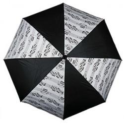 Paraigua pentagrama blanc combinat negre plegable A-gift