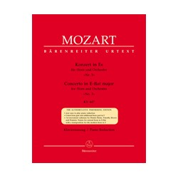 Concerto nº 3 in E-flat major Urtext KV 447