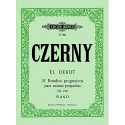 El debut, 25 estud.manos pequeñas Op.748