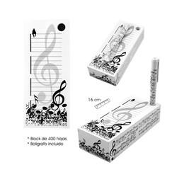 Taco bloc de notes musical amb bolígraf