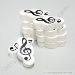 Goma musical GC Blanc-Negre Clau Sol