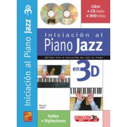 Iniciación al Piano Jazz en 3D + CD + DVD