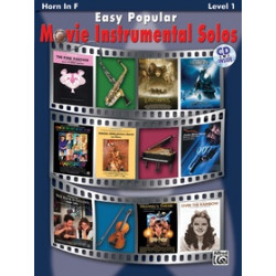 Easy Popular Movie Instr.Solos Horn in F + CD Level 1