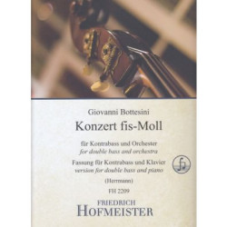 Konzert fis - Moll for double bass and piano