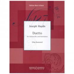 Duetto für violoncello und Kontrabass