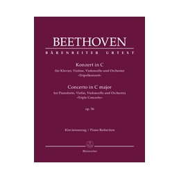 "Koncert C Dur Op. 56 Piano reduction i solistes ""Triple Concerto"""
