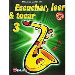 Escuchar, leer & tocar 3 Saxofón alto + CD