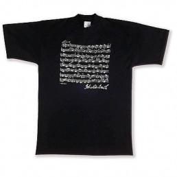 Samarreta musical Bach negra M