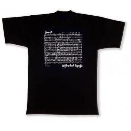 Samarreta musical Mozart negra L