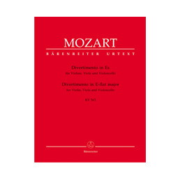 Divertimento in E-flat major for Violin, Viola and Violoncello