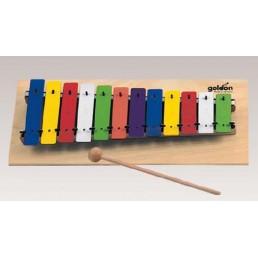 Metalofon GOLDON 12 notas colores 11030 fusta