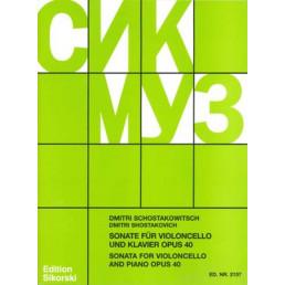 Sonata for violoncello and piano Op. 40
