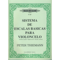 Sistemas escalas básicas para violoncelo